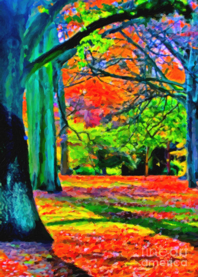 Bold Colors Of Autumn Painting  - Bold Colors Of Autumn Fine Art Print