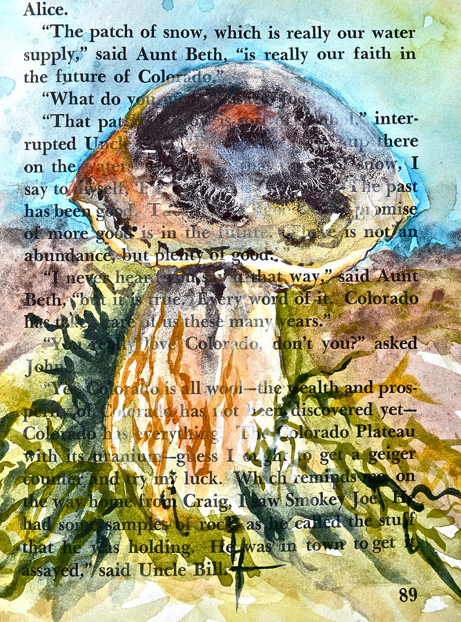 Boletus Edulis Painting - Boletus Edulis Close Up by Beverley Harper Tinsley