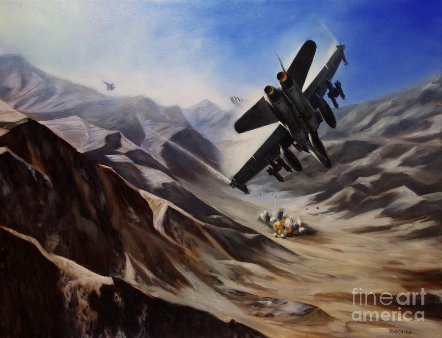 Bomb Run Painting  - Bomb Run Fine Art Print