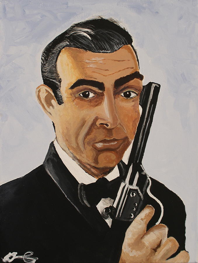 Bond James Bond Painting