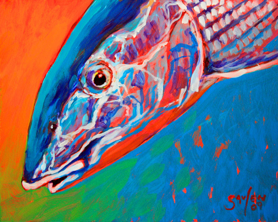 Bonefish Closeup Painting  - Bonefish Closeup Fine Art Print