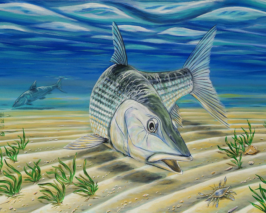 Bonefish On The Flats Painting