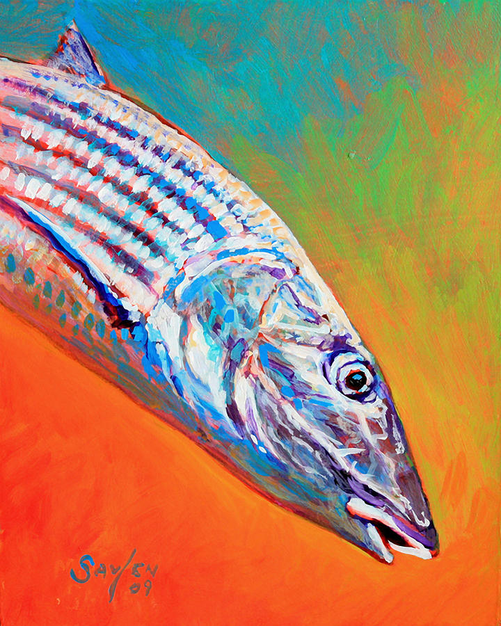 Bonefish Portrait Painting