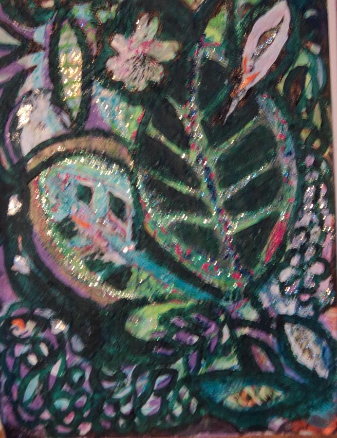 Leaves Mixed Media - Bonita On Black by Anne-Elizabeth Whiteway