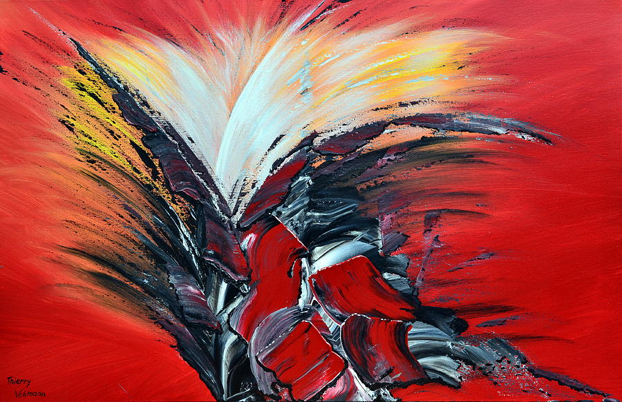 Abstract Painting - Bonne Nouvelle by Thierry Vobmann