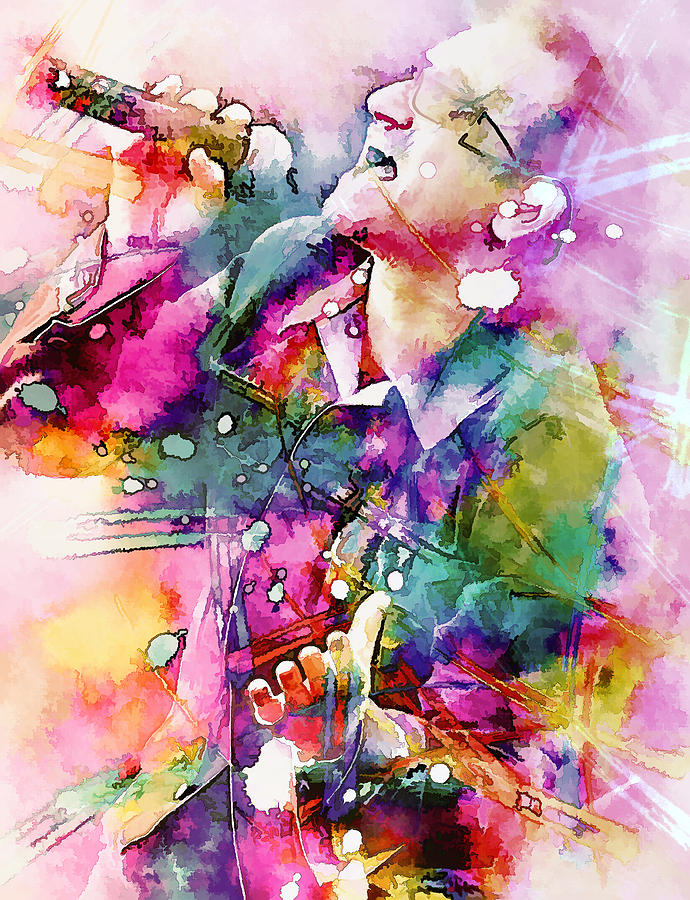Bono Singing Painting  - Bono Singing Fine Art Print