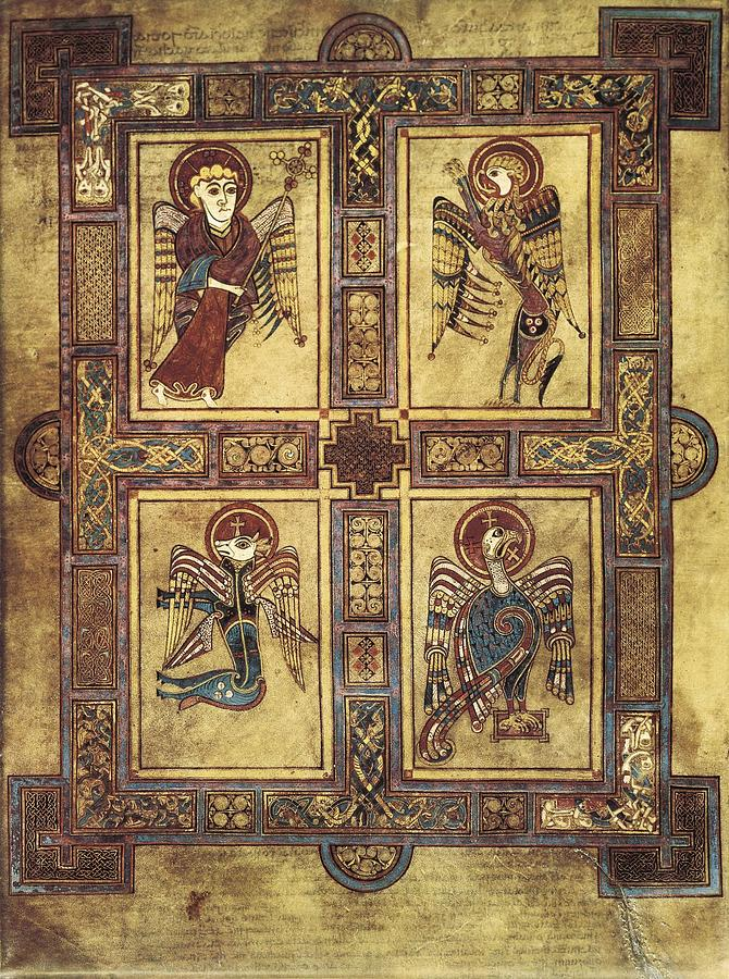 Book Of Kells. 8th-9th C. Fol.27v Photograph