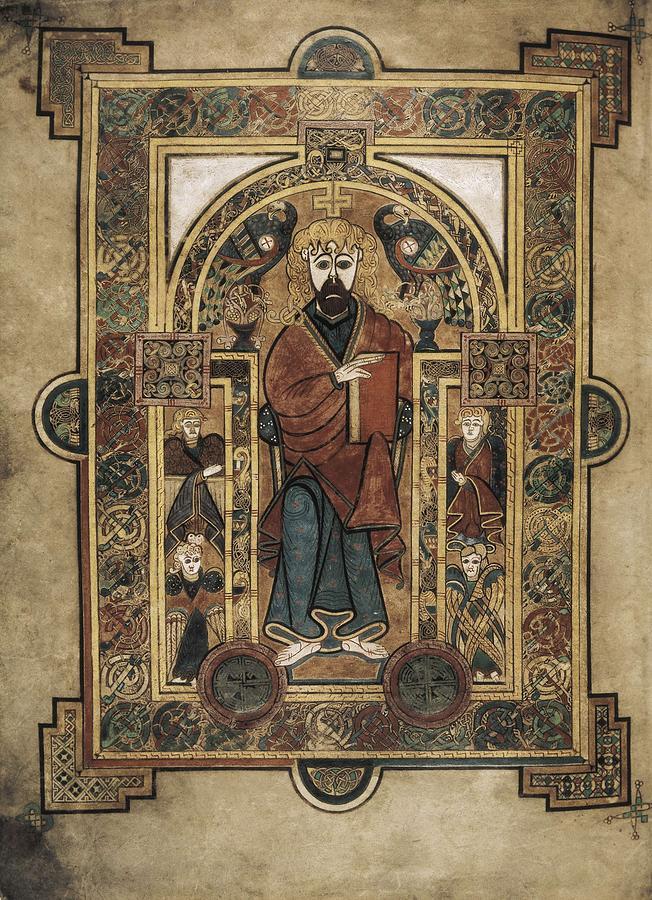 Book Of Kells. 8th-9th C. Saint John Photograph