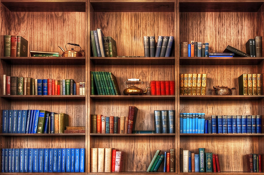 Book Shelf Photograph  - Book Shelf Fine Art Print
