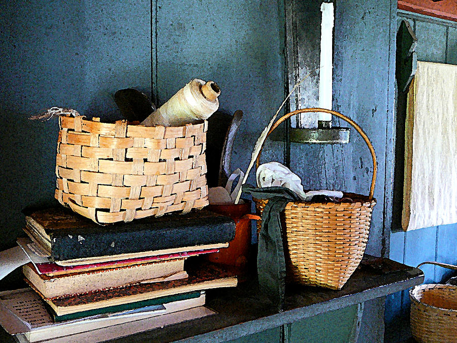 Books And Baskets Photograph