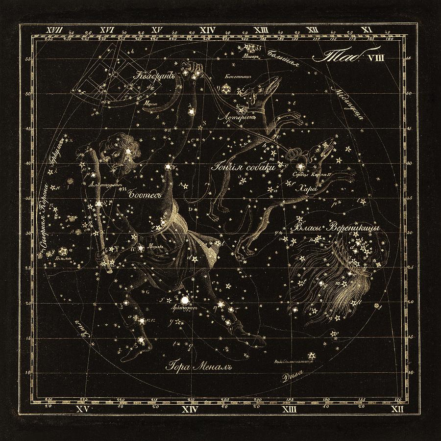 Bootes Constellations, 1829 Photograph