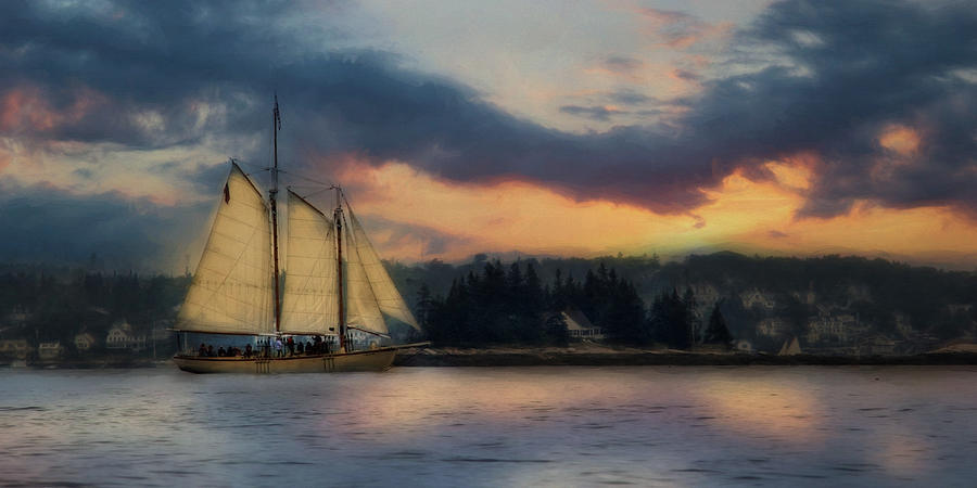 Boothbay Harbor Schooner Photograph  - Boothbay Harbor Schooner Fine Art Print