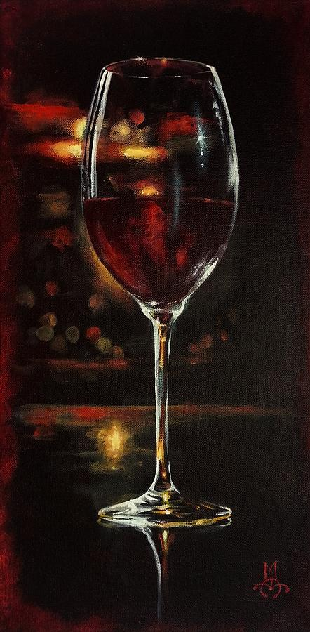 Wine Painting - Bordeaux After The Show by Marco Antonio Aguilar