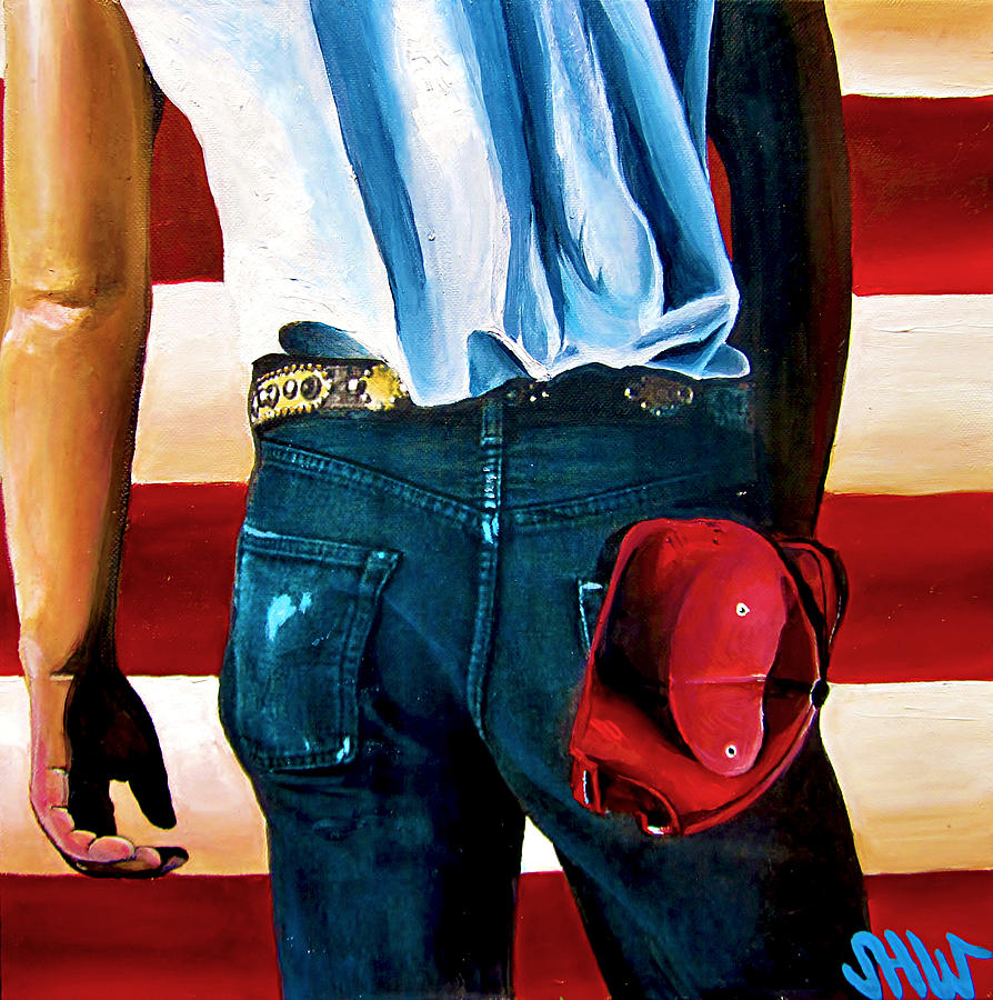 Born In The Usa Painting  - Born In The Usa Fine Art Print