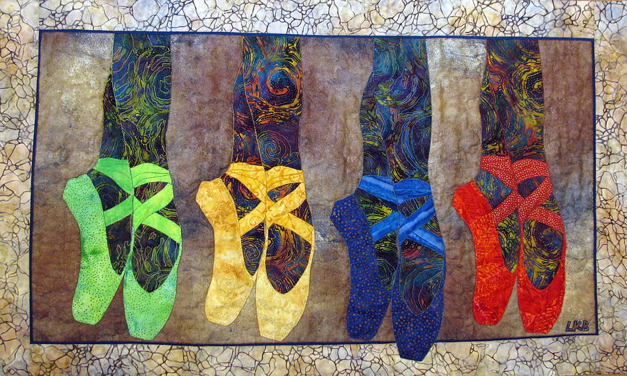 Art Quilts Tapestries Textiles Tapestry - Textile - Born To Dance by Lynda K Boardman