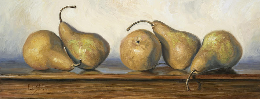 Pear Painting - Bosc Pears by Lucie Bilodeau