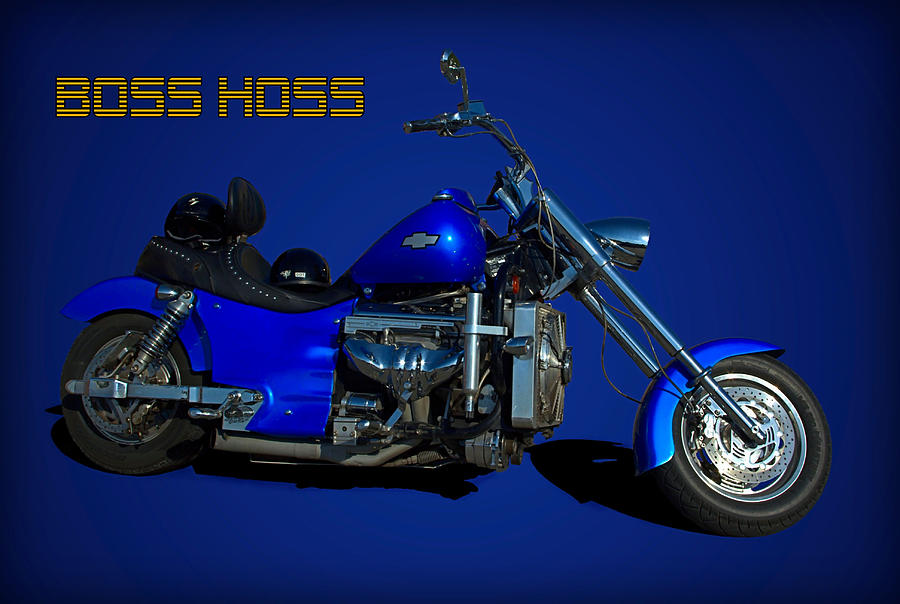 Boss Hoss Chevy V8 Motorcycle Photograph