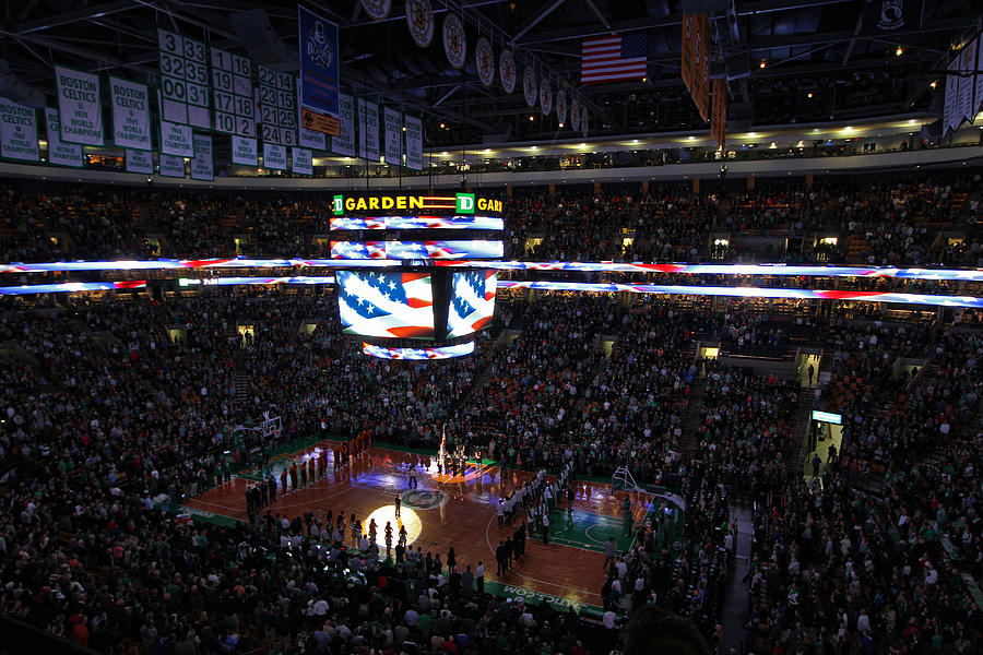National Photograph - Boston Celtics Under The Star Spangled Banner by Juergen Roth