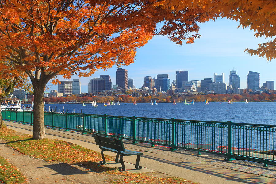 Boston Charles River In Autumn Photograph