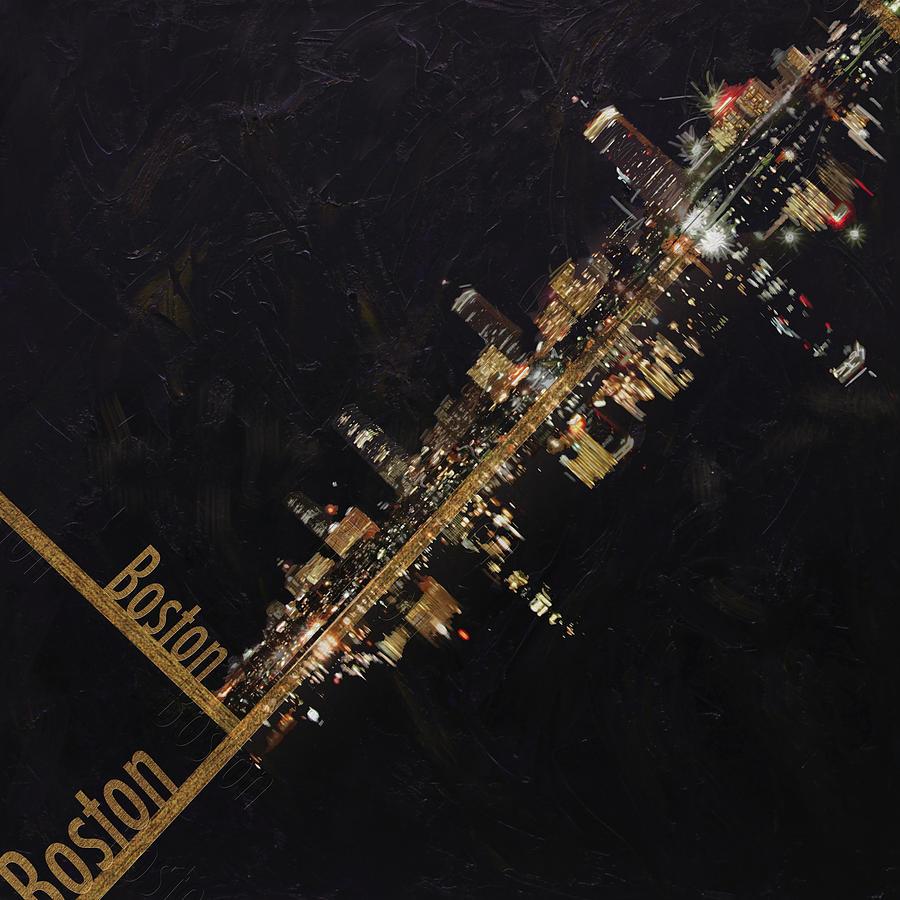 Boston City Skyline Painting