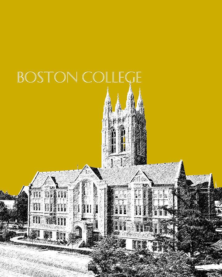 University Digital Art - Boston College - Gold by DB Artist