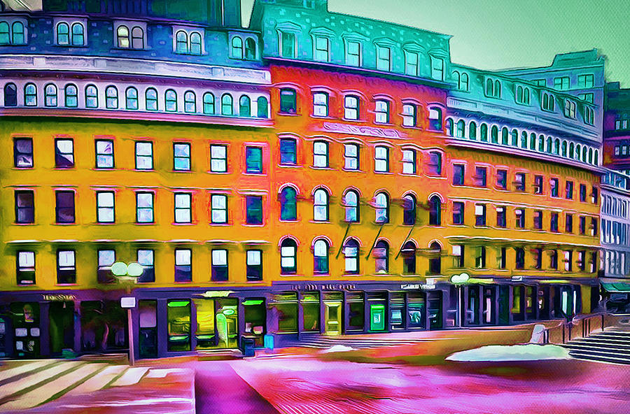 Boston Colors 1 Digital Art  - Boston Colors 1 Fine Art Print