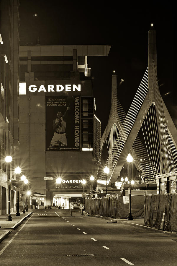 Boston Garder And Side Street Photograph