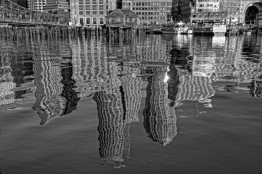 Boston Harbor Reflections Photograph