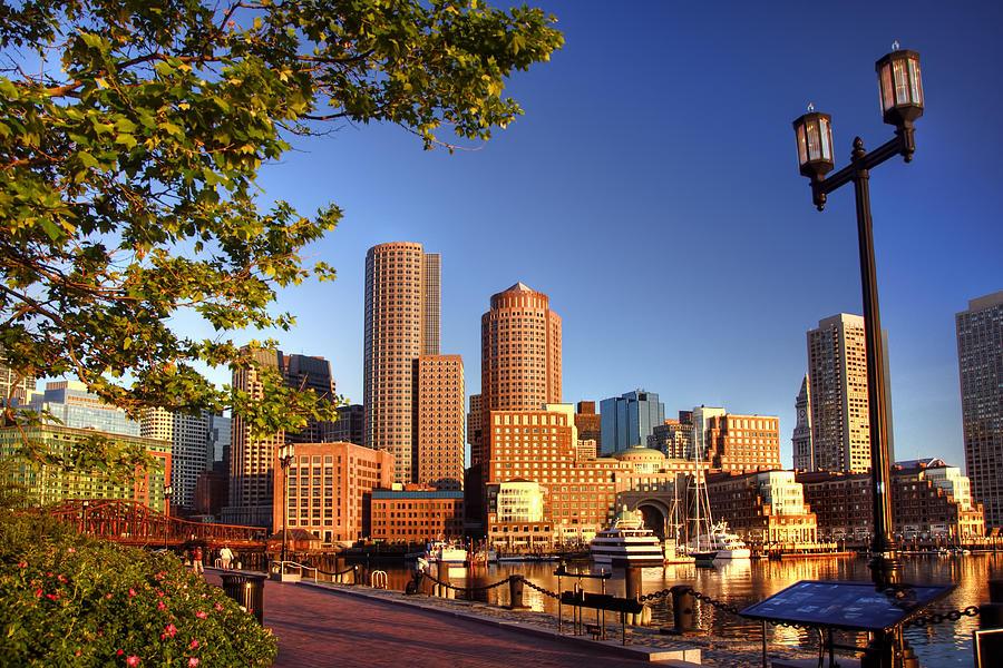 Boston Harbor Sunrise Photograph