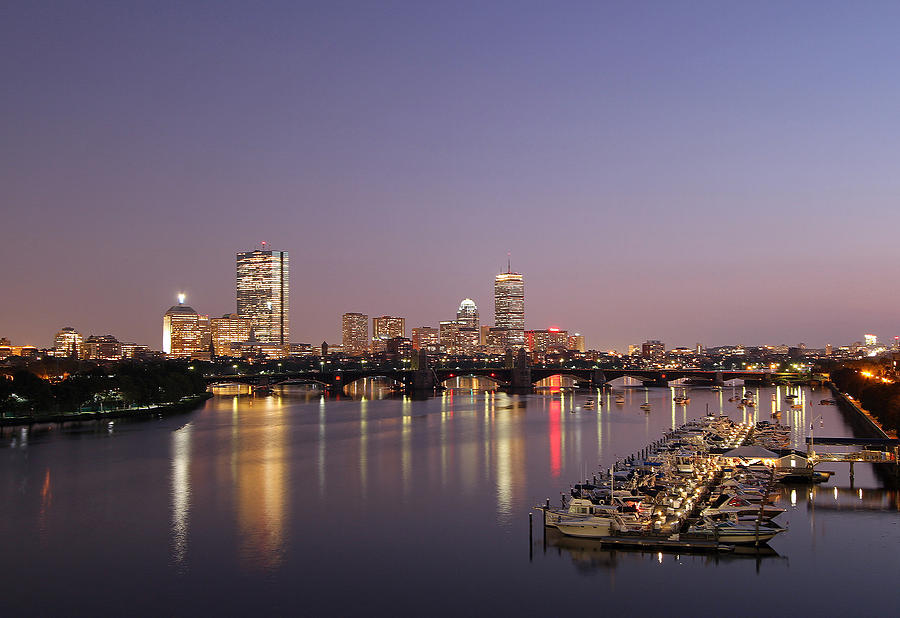 Boston Landmarks At Twilight Photograph
