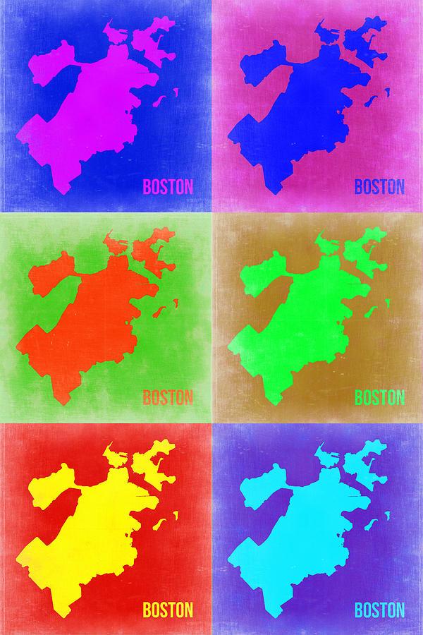 Boston Pop Art Map 3 Painting