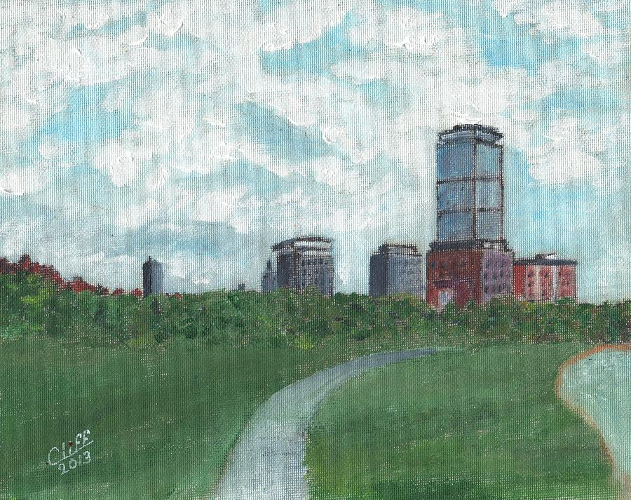 Boston Skyline 1968 Painting  - Boston Skyline 1968 Fine Art Print
