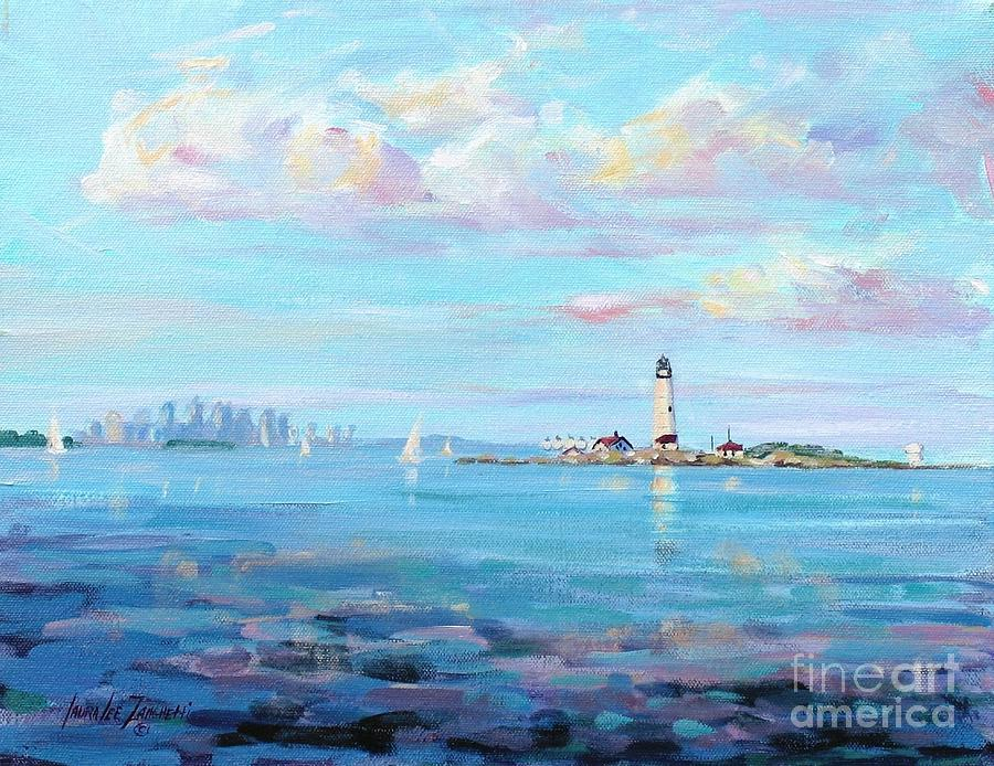 Boston Skyline Painting  - Boston Skyline Fine Art Print