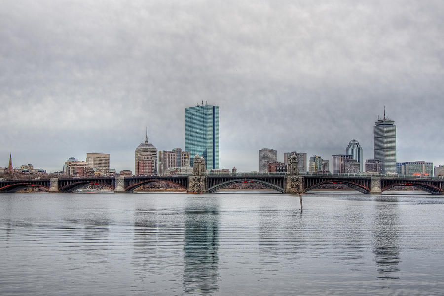 Boston Skyline On A Grey Day Photograph