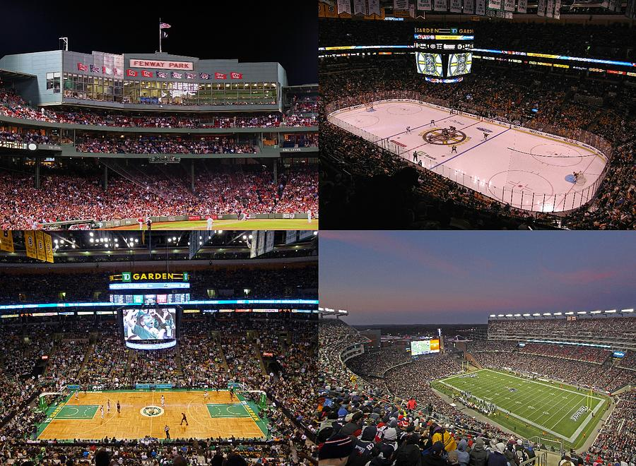 Boston Sports Teams And Fans Photograph