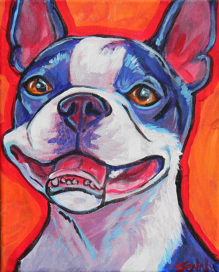 Boston Terrier Smile Painting