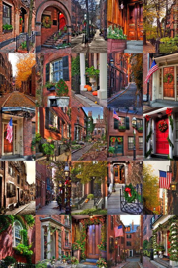 Boston Tourism Collage Photograph