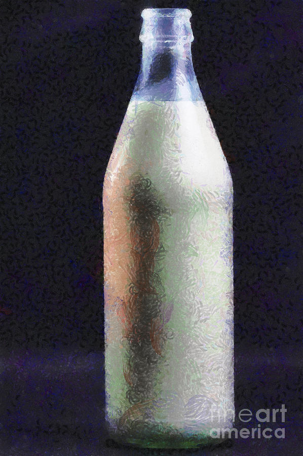 Bottle Of Milk Painting Painting  - Bottle Of Milk Painting Fine Art Print