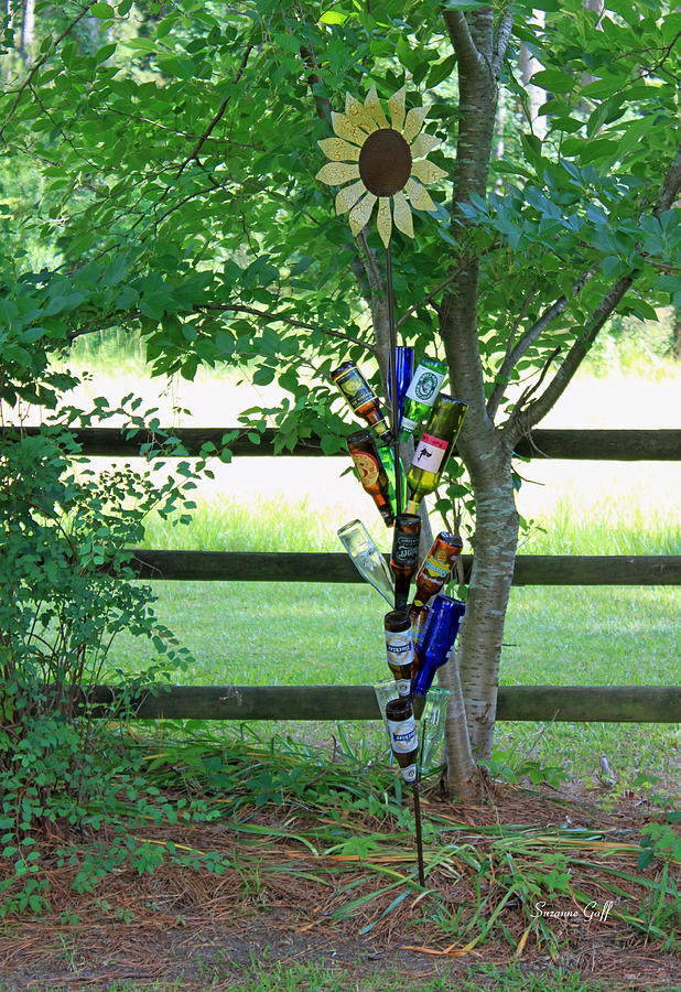 Bottle Photograph - Bottle Tree by Suzanne Gaff
