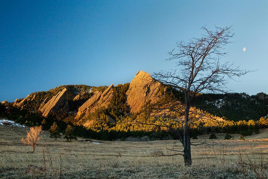 Boulder Colorado Flatirons Early Morning Light Photograph