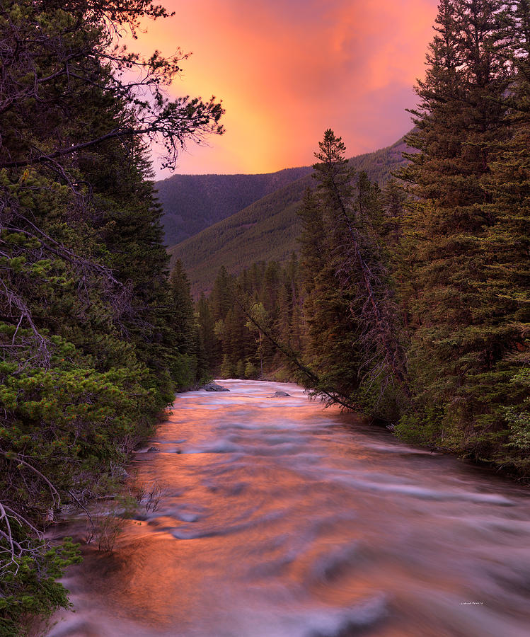 Boulder River Sunset Photograph