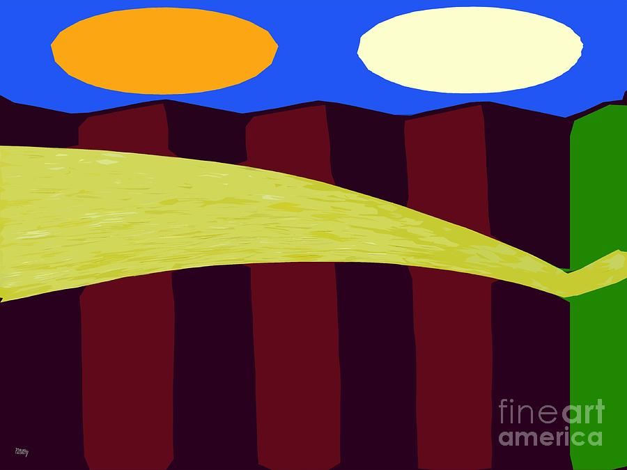 Bouncy Sunshine Painting  - Bouncy Sunshine Fine Art Print
