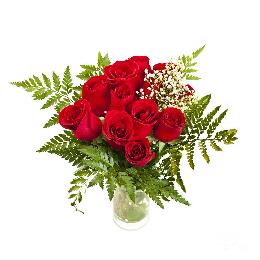 Bouquet Of Red Roses Photograph
