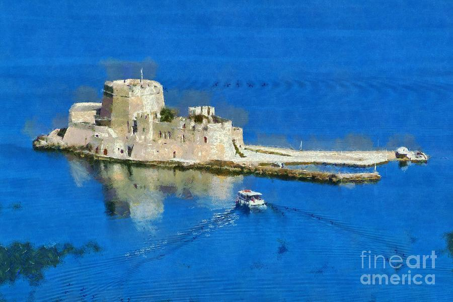 Bourtzi Fortress Painting  - Bourtzi Fortress Fine Art Print