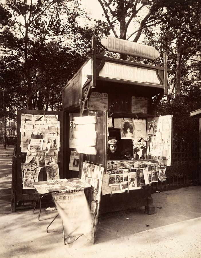 Boutique journaux rue de sevres paris 1910 photograph by vintage printery - Boutique meuble vintage paris ...