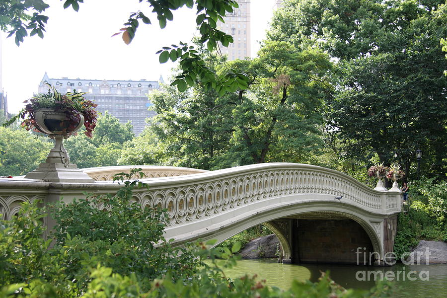 Bow Bridge Nyc - Old Beauty  Photograph  - Bow Bridge Nyc - Old Beauty  Fine Art Print