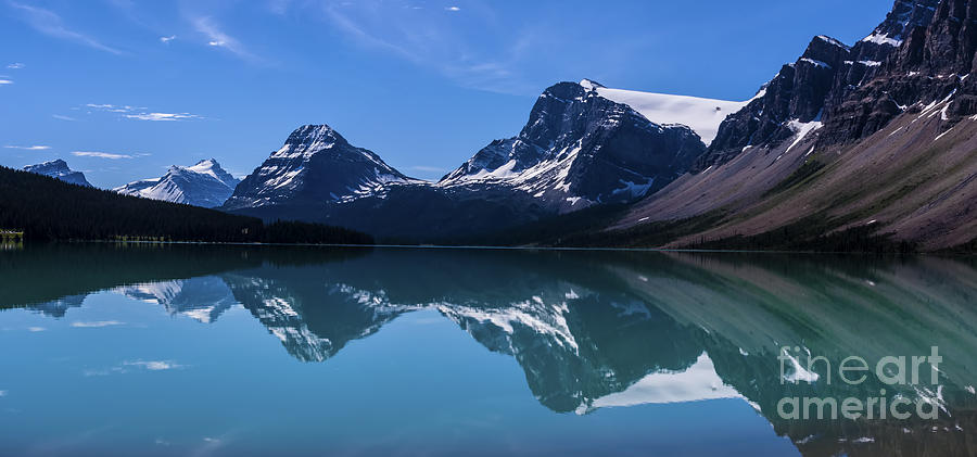 Bow Lake Reflecting Photograph  - Bow Lake Reflecting Fine Art Print