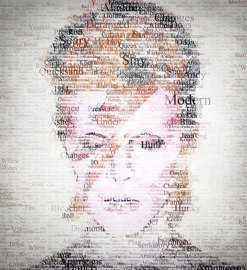 Bowie Typo Digital Art