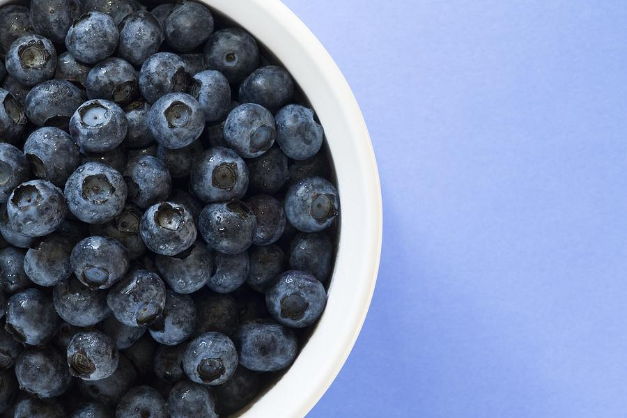 Bowl Of Blueberries Photograph