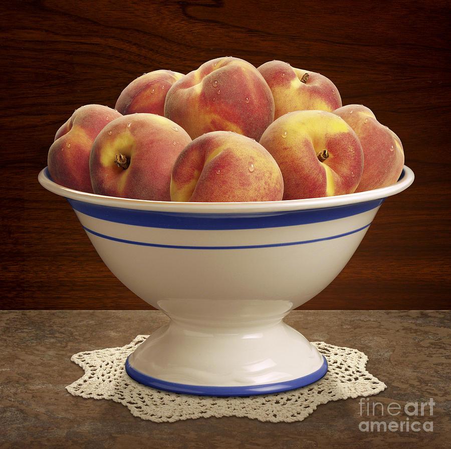 Bowl Of Peaches Digital Art